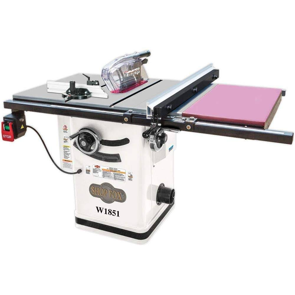 f. Shop Fox W1851 Hybrid Cabinet Table Saw