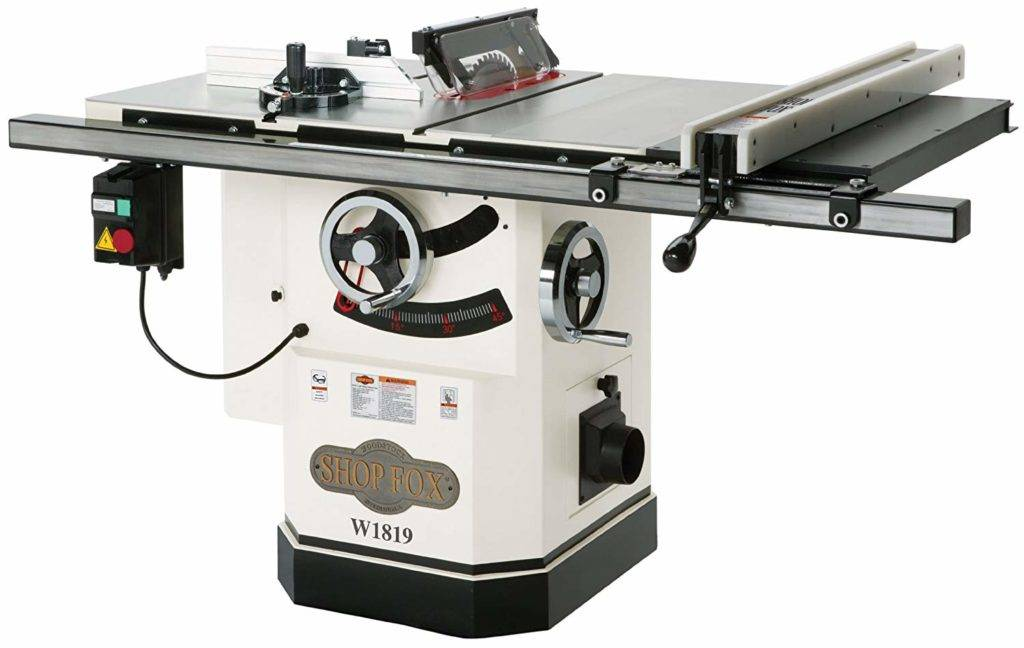 c. Shop Fox W1819 3HP 10-Inch Table Saw